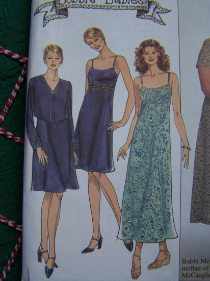 Simplicity Sewing Pattern Misses Strap Sundress Empire Waist Dress Jacket Sz 4 6 8  8569