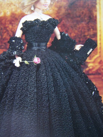 Paradise Crochet Pattern Barbie Evening Gown Wrap Purse