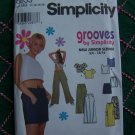 Juniors Sewing Pattern 8653 Cropped Top Mini Long Skirt Wide Leg Pants Jrs 11 12 13 14 15 16