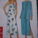 Simplicity Easy Misses Sewing Pattern Strap Sundress Side Slit Dress with Jacket 8562 Sz 6 - 16