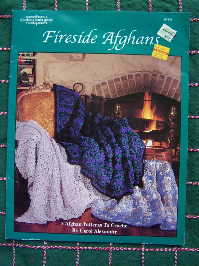 7 Crochet Patterns Fireside Afghans Book 9834 Carolina Country House