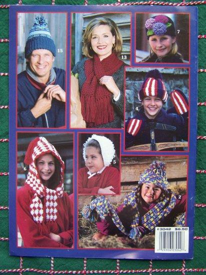 20 Crochet Patterns Winter Hats Muffs Earmuffs Gloves Scarf Hoddie Hat Scarves