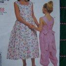 McCall's Easy Girls 2 3 4 5 6 Sundress Jumpsuit Cross Back Straps Ties Dress 2168