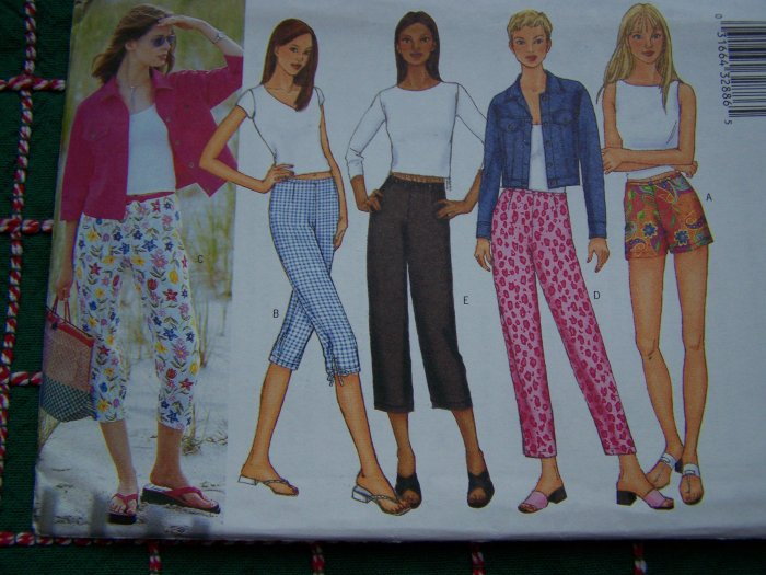Butterick Sewing Pattern 6946 Easy Misses Shorts 4 Lengths of Capri Pants 12 14 16
