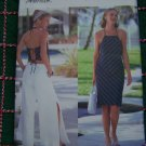 Misses Plus Size Sewing Pattern Halter top Tie Back Slim Skirt Split Leg Pants 18 20 22 B 6623
