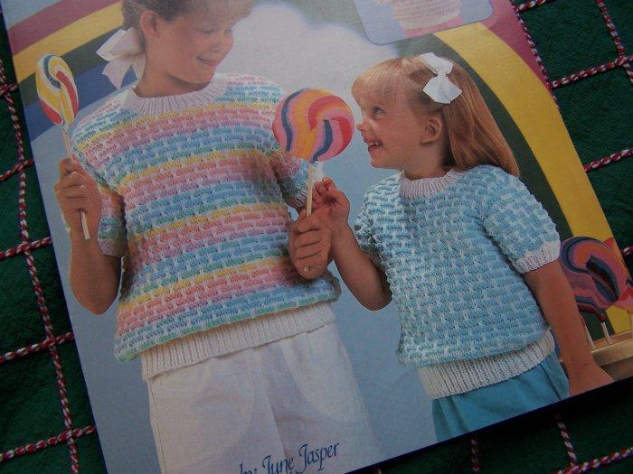 Girls 4 6 8 10 12 14 Summer Knit Top & Vest Knitting Patterns 1 Cent USA S&H