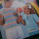 Girls 4 6 8 10 12 14 Summer Knit Top & Vest Knitting Patterns 1 Cent USA S&H
