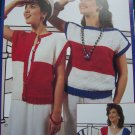 Vintage Knitting Patterns Misses Patriotic 4th of July Cap Sleeve Summer Tops