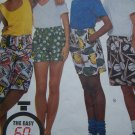 1 Cent S&H USA New Sewing Pattern Small Boxer Pull on Jams Shorts Side Pockets McCall's 5982