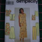 Misses 6 8 10 Sewing Patterns Summer Wardrobe Jacket Top Skirt Pants Sheer Overlay 8568