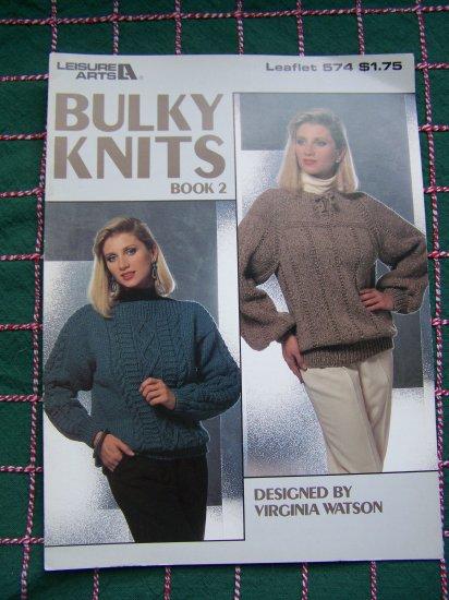 1 Cent USA Ship Vintage Knitting Pattern Misses S M L Pullover Sweaters Bulky Knits Raglan Aran