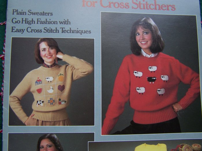 Vintage Cross Stitch Waste Canvas Patterns for Clothing Decoration