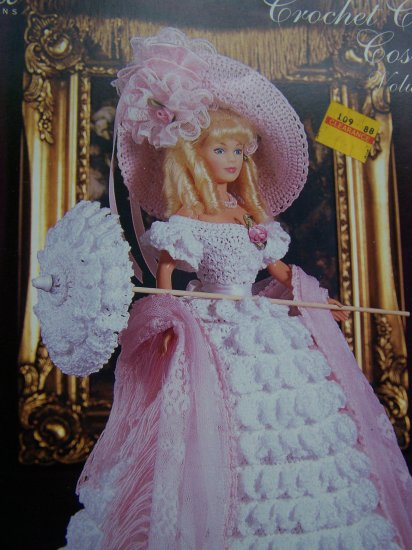 Paradise Crochet Pattern # 25 1850 Old South Gown Hat Parasol Shawl SHoes