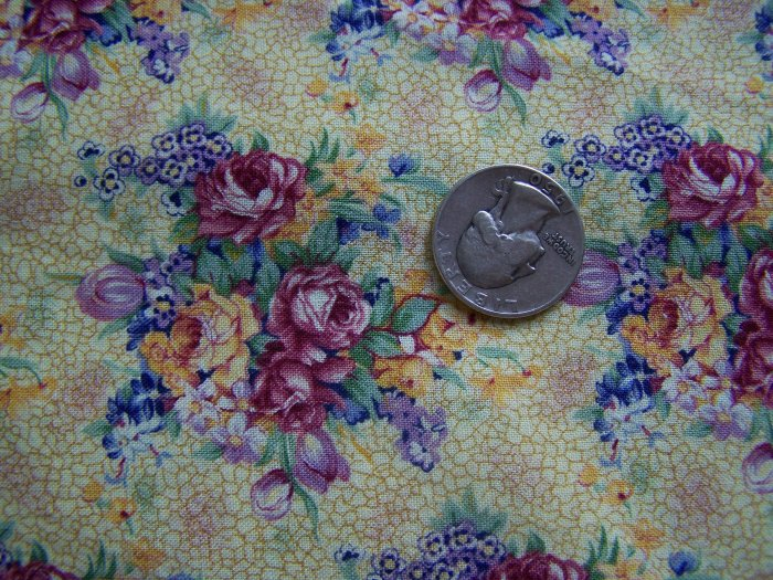 Daisy Kingdom Cotton Fabric Welbeck Allover Golden Yellow Floral Pattern Dress 3947