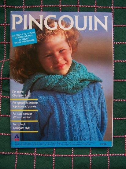 Pingouin Knitting Pattern Magazine Child's 2 - 12 Men Womens Sizes