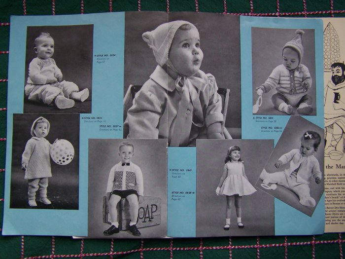 1950's Bernat Knitting Patterns Book Infant 6 Months - Toddler 4 Baby Layettes Nursery Rhyme