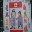 Girls 4 5 6 Sewing Pattern Halter or Tank Top Sundress Rompers Jumper Dress 2218