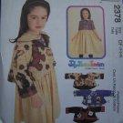 1 Cent USA S&H Girls 4 5 6 Sewing Pattern Full Skirt Short Sleeve Dress w/ Fleece Jacket 2378