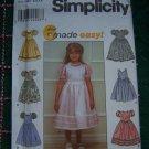 Girls 5 6 7 8 Sewing Pattern Flower Girl Fancy Dress Attached Slip Net Ruffle 8491