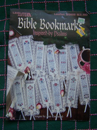 1 Cent USA S&H  Psalms Bible Bookmarks Cross Stitch Embroidery Charts 2968
