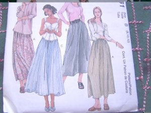 Misses Full Skirts Sewing Patterns 2 Lengths 8 10 12 McCall's 2261
