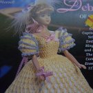"Crochet Pattern Barbie Fashion Doll Dress Deborah of St Louis Gown Hat Parasol 11 1/2"" Dolls"
