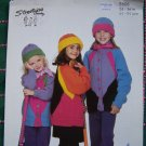 1 Cent USA S&H Girls or Misses Knitting Patterns Button Up Jacket & Hat Bright Patterned