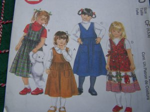 USA 1 Cent S&H Girls 4 5 6 Easy Summer - Christmas Jumper Dress Sewing Pattern 9510