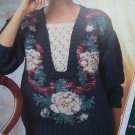 1 Cent USA S&H Knit Pattern Ribbons & Roses Misses Pullover Sweater S M L XL