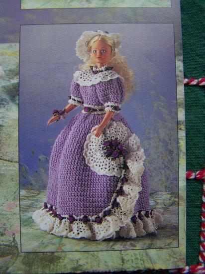 "Hollywood Stars II Crochet Patterns Doll Ruffled Dresses 17"" Starlette"