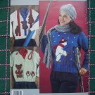 Vintage Misses Bear Sweaters to Knit Panda Sherlock Climbing Skiing Teddy Bears LA 790
