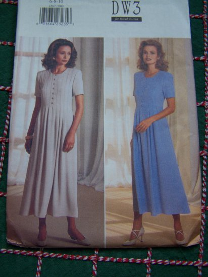 1 Cent USA S&H Misses 6 8 10 Front Tucks Dress Sewing Pattern 4367