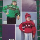 1Cent S&H USA 5 Fair Isle Knitting Patterns Girls Sweaters Hats Scarf Paper dolls