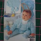 Vintage Patons Baby Knitting Patterns Infants Sweaters Hat Overalls Bootees