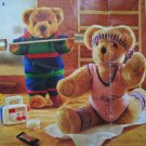 "12 Vintage Patons Knitting Patterns Teddy Bear Clothing Outfits 15 19 23"" Bears Toys"