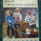 Children's 6 8 10 12 14 Knit Pullover Sweater Patterns Country Animals Knitting Book 1218