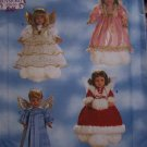 "Simplicity Sewing Pattern Angel 18"" Doll Clothing Costume Dress Halo Wings Muff 8478"