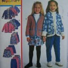 Toddler Girls 2 3 4 Winter Wardrobe Easy Sewing Pattern 9627 Jacket Jumper Dress Pants Skirt