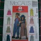 Girls 6 7 8 Sewing Pattern 8 Great Looks Flared Jumper Dress Jumpsuit 2039