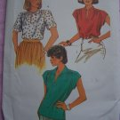 Misses Vintage Sewing Pattern Sz 12 Summer Pullover Tops Shirts 6367 Bust 34