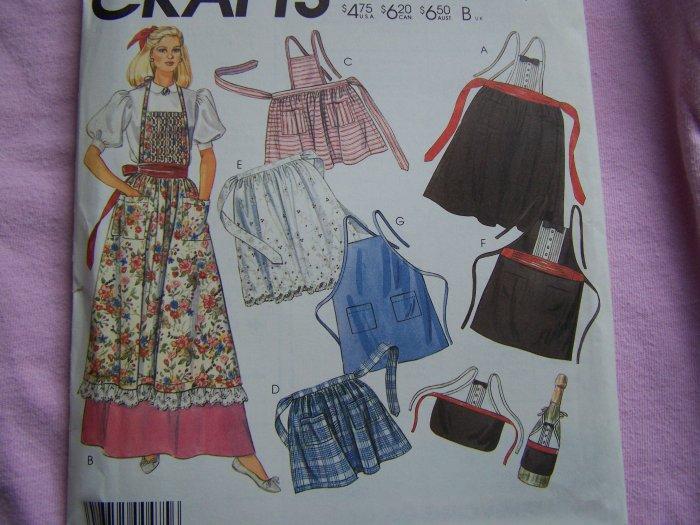 Vintage Aprons Sewing Pattern Mens WOmens Bottle Apron 2293