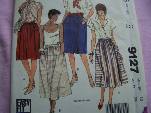 Vintage McCall's Sewing Pattern 9127 Misses Gathered Skirts Yoke Pockets