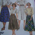 1 Cent USA S&H 1980's McCall's Sewing Pattern Skirts Full Gathered Sz 10 2004