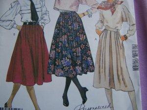"Misses Vintage Skirts 27 & 30"" Length Sewing Pattern 2265 Sz 12"