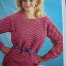 1 Cent USA S&H  Vintage Robin Double Knitting Pattern Misses Tunic Sweater Bust 30 - 42