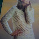 USA 1 Cent S&H Vintage Patons Lace Stitch Misses V Neck Long Sleeve Sweater