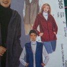 Misses Sewing Pattern 16 18 20 22 Jackets & Vests Hood Kangaroo or Side Pockets 2365