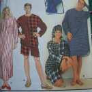 L XL Misses Mens Jrs Sleepwear Sewing Patterns Pajama Top Nightshirt Shorts Hat 9291