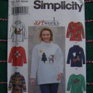 Misses Long Sleeve Pullover Tops Sewing Patterns Artworks Appliques 8251 XS S M