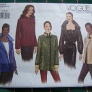 Uncut Easy Vogue Sewing Pattern 2615 Long Sleeve Loose Fit Jackets 14 16 18